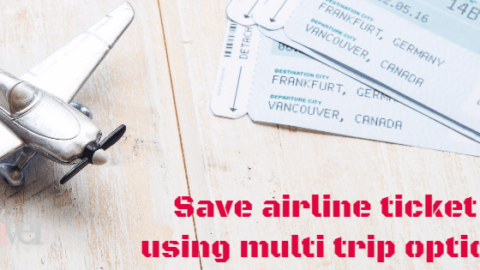 How to Save on Airline Ticket using Multi trip option