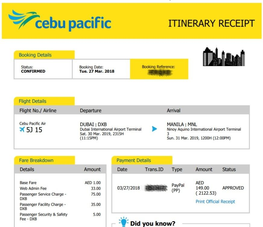 Cheapest International Air Tickets Dubai to Manila
