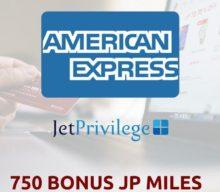 750 Bonus JP Miles