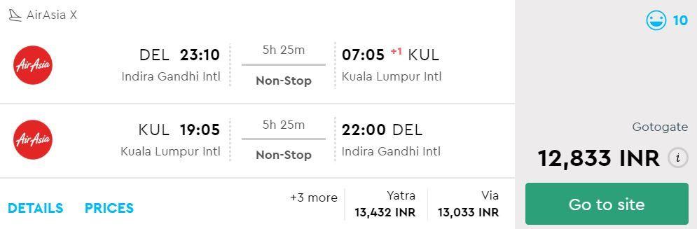 Delhi to Kuala Lumpur