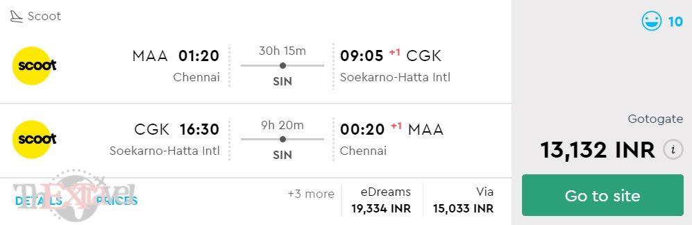 Chennai to Jakarta