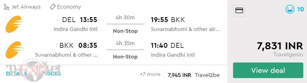 Delhi to Bangkok
