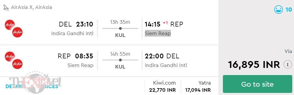 Delhi to Siem Reap