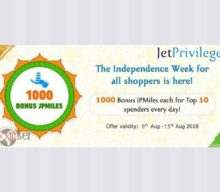 1000 Bonus JPMiles for Top Spenders