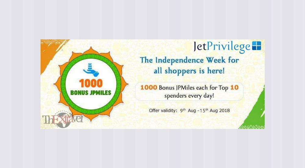 JetPrivilege Top Spender Offer