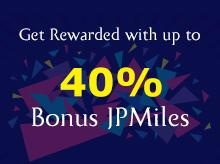 40% bonus JPMiles