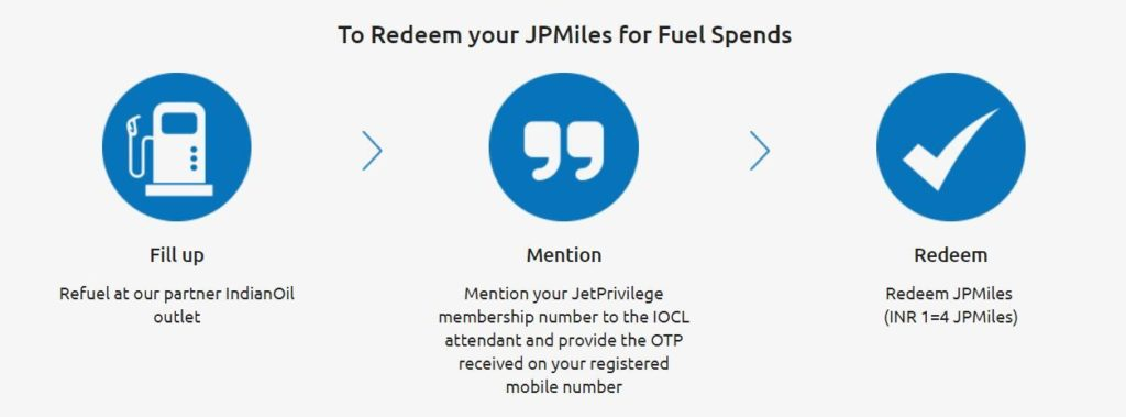 Redeem JPMiles through Indian Oil - Jet Privilege Indian Oil Offer
