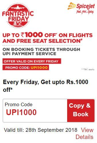 SpiceJet Fantastic Friday