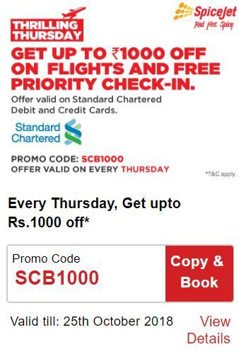 SpiceJet Thrilling Thursday