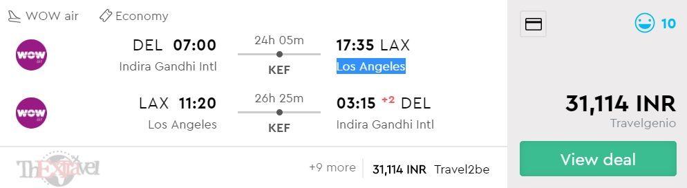 Delhi to Los Angeles