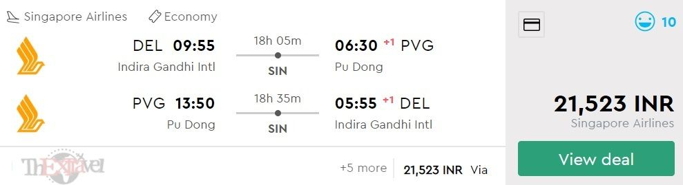 Delhi to Shanghai