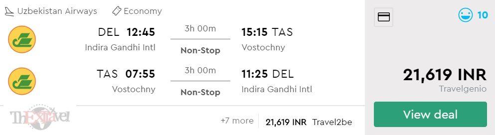 Delhi to Tashkent