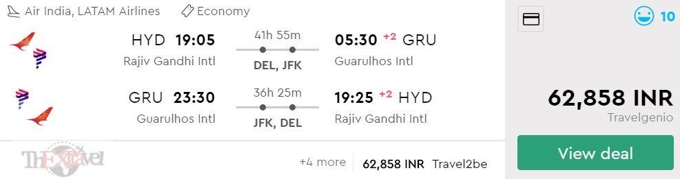 Hyderabad to Sao Paulo