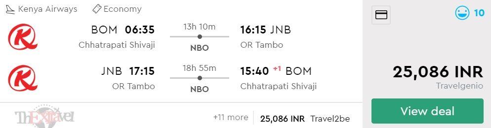 Mumbai to Johannesburg