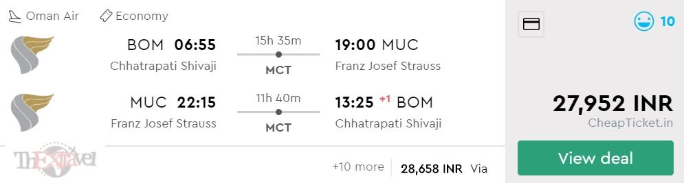 Mumbai to Munich
