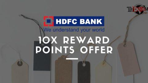 HDFC 10X Reward Points Offer – Updated October 2018