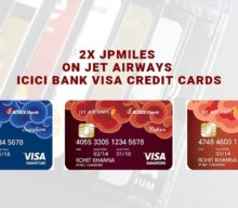 2x JPMiles on Jet Airways ICICI Bank Visa Credit Cards