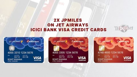 2x JPMiles on Jet Airways ICICI Bank Visa Credit Cards