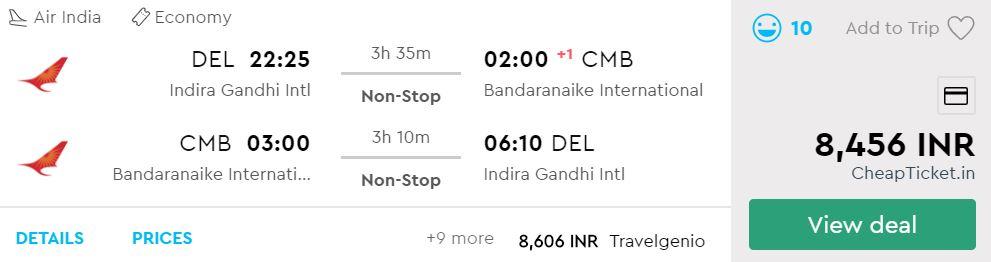 Delhi to Colombo