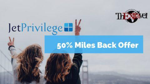 50% Miles Back Offer