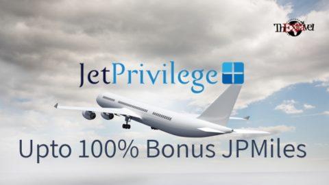 Upto 100% Bonus on Purchasing JPMiles