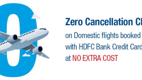 HDFC Bank Zero Cancellation on Domestic Flights