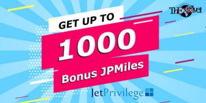 JetPrivilege Bonus Offer
